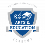 The Arts and Education Academy logo for the ISD Academies.